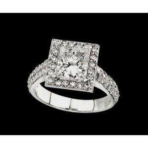 2 carat princess diamond royal engagement ring gol